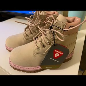 Size 11 toddler rose gold timberland boots